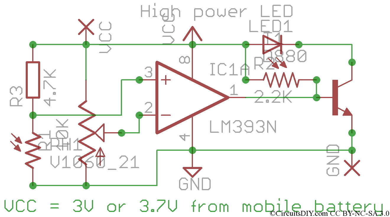 automatic quick turn on led in dark circuits diy dark detector circuit using ldr dark detector circuit 555 timer