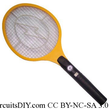 Miniature electric fence circuit used in Mosquito Racket