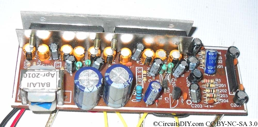 LA4440 amplifier circuit in Bridge mode – Circuits DIY