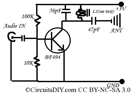 The Simplest F M Transmitter Ever Made Circuits Diy