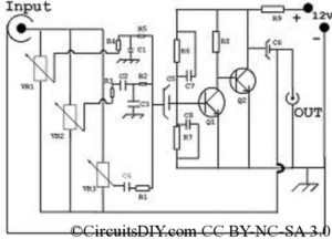 Simple 3 Band Graphic Equalizer with BC548 - Circuits DIY