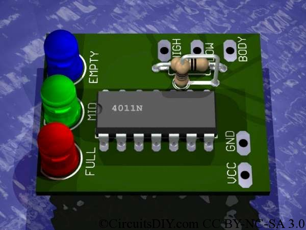 Magnificent Simple Water Level Indicator Circuit Using Logic Ic Circuits Diy Wiring Digital Resources Antuskbiperorg