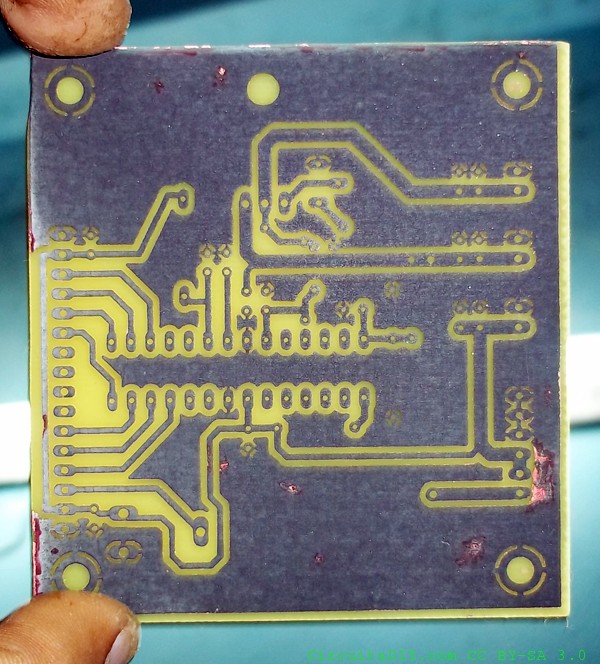 PCB making process update: Easy PCB at home