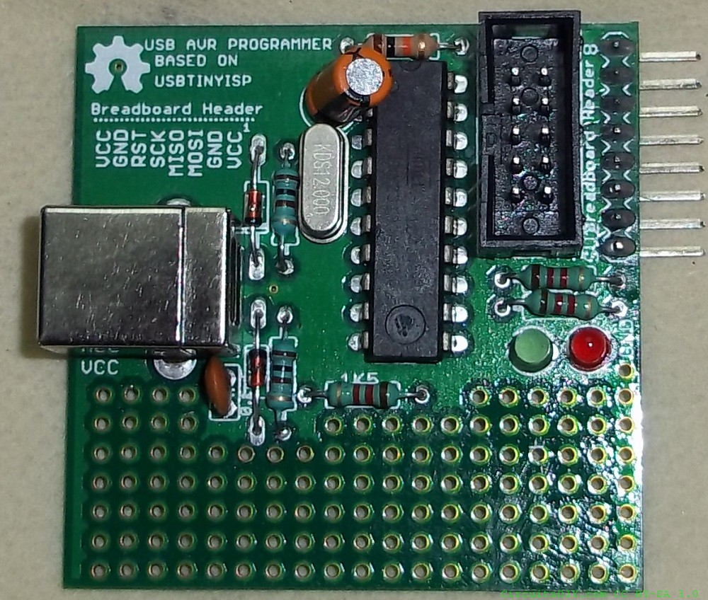 USB AVR Programmer final based on UsbtinyISP