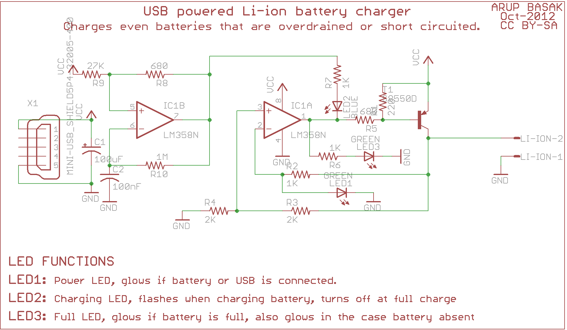 Usb Li Ion Charger Circuits Diy