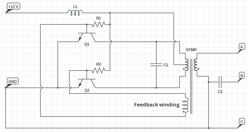 20 watt push pull cfl inverter circuit circuits diy 3 cfl ups inverter circuit diagram CFL Starter Circuit