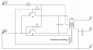 CFL inverter circuit diagram 20 watt