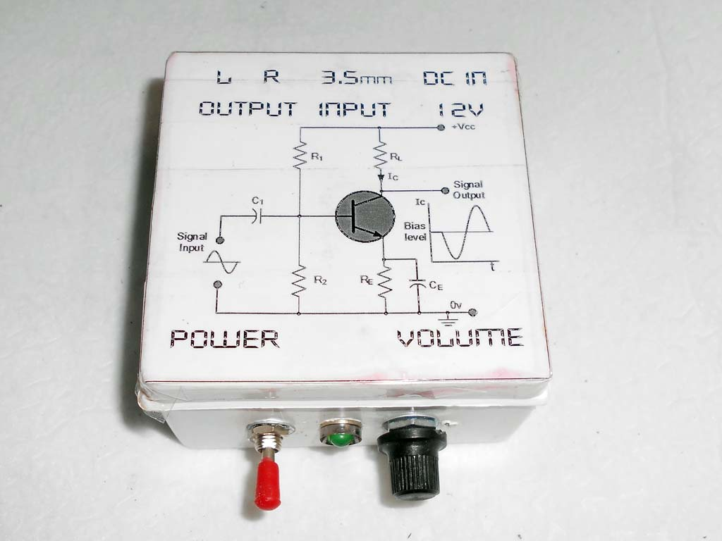 Simple dekstop audio amplifier by A6283 I.C