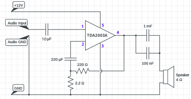 Tda2003 Amplifier Circuit Diagram 10 Watt Circuits Diy