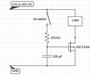 mosfet timer circuit