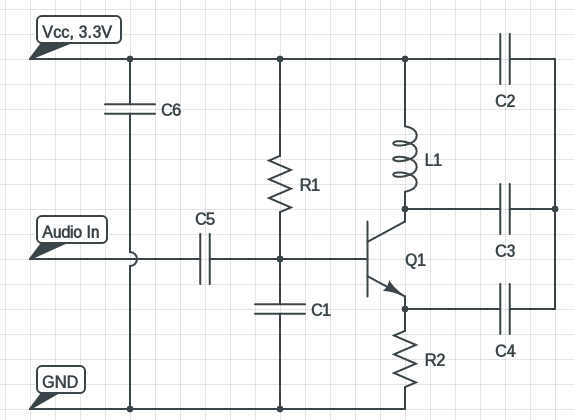 miniature FM transmitter circuit diagram