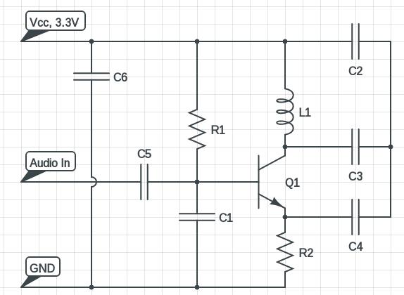 miniature FM transmitter circuit diagram