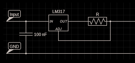 LM317 constant current source circuit design