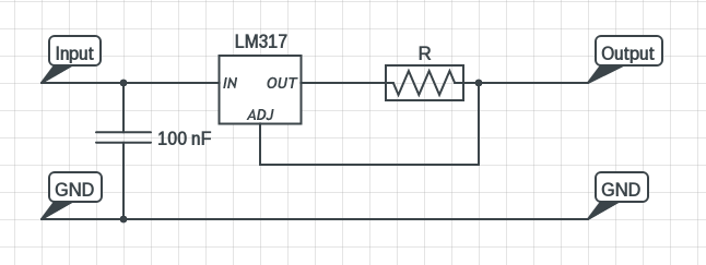 LM317 constant current source circuit diagram